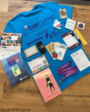 Swag from 2016 BarCamp goody bag